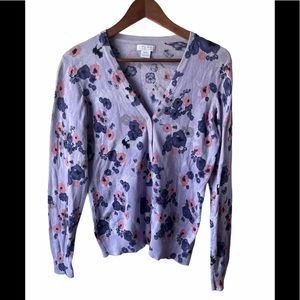 3/$30 Alfred Sung floral button up cardigan
